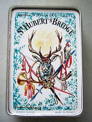 Philibert Paris Wide St Huberts Bridge Ltd Ed 1956 Vintage Playing Cards 52+2J+1