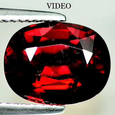 6.29 Ct Aaa! Natural! Red Mozambique Garnet Oval
