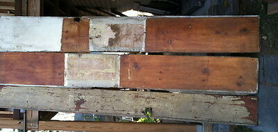 Early 18th century  very wide pine hand planed wainscot boards