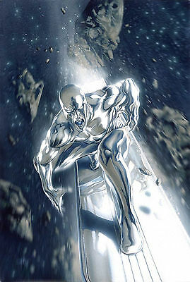 Silver Surfer Fine Art Giclee Canvas Gabriele Dell'Otto Marvel Artworks Limited
