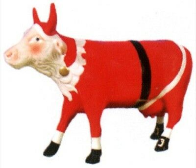 Cow Parade 2002 SANTA COW MINIATURE FIGURINE #7084 New & Hard to Find!