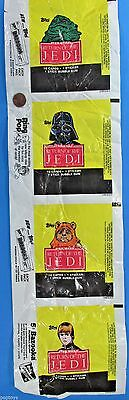 TOPPS UNCUT wrapper set ROTJ trading cards Star Wars '83 vtg Darth Vader Wicket