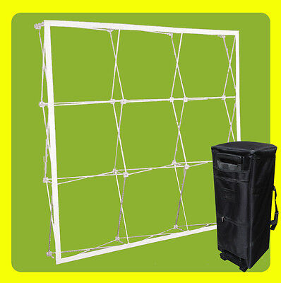 10' FRAME - Tension Fabric Straight Pop Up Display Trade Show Backdrop Booth