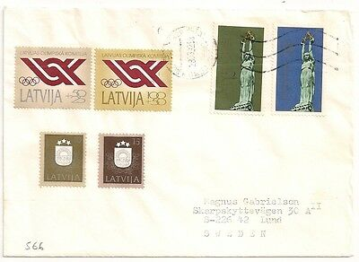 Cover Latvia Latvija Lettonie To Sweden. L566