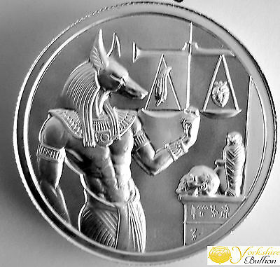 2oz Anubis Ultra High Fine Relief Silver Round With Capsule