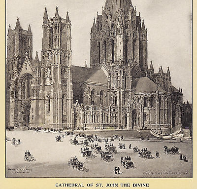 1903 Cathedral of St. John the Divine New York City Singer Sewing photo ad Card