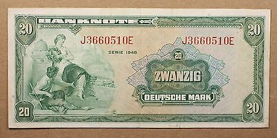Germany - Federal Allied Occupation 20 Mark 1948 P6a Paper Note Currency