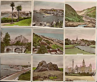 12 VIEWS OF INTEREST REAL PHOTO CIGARETTE CARDS 3rd Series by R.& J.HILL C.1938