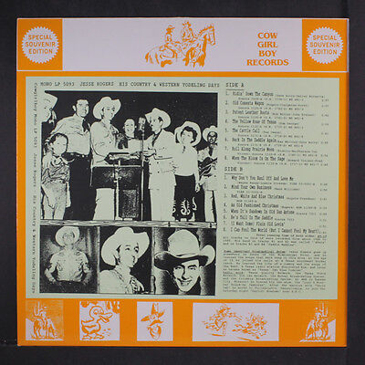JESSE ROGERS: His Country & Western Yodeling Days LP (Germany) Country