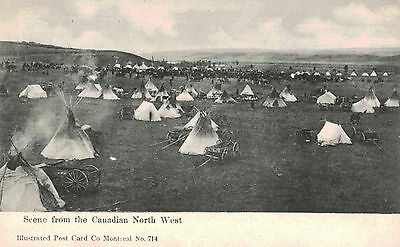 Candian North West,Indian Village (First Nations),Native American,Canada,c.1909