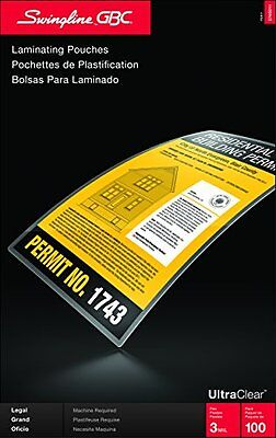 GBC HeatSeal Ultra Thermal Laminating Pouches Legal Size 3mm ness 14.5 x 9in 100