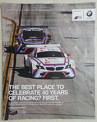 BMW Motorsports 40 Years of Racing Poster IMSA Team RLL Z4 GTLM Le Mans