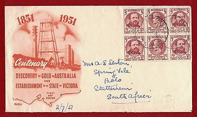 1951 Australia Discovery of Gold SG 245/6 FDC