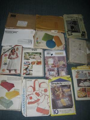 Vintage Lot 14 Craft Home Decor Sewing Patterns Simplicity Waverly