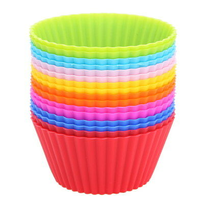 16PCS Silicone Cake Cup Mold Muffin Chocolate Cupcake Bakeware Baking Soft Mould