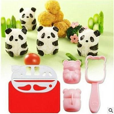 Cute BENTO Accessories Rice Ball Mold With Nori Punch Sushi PANDA Shape LG