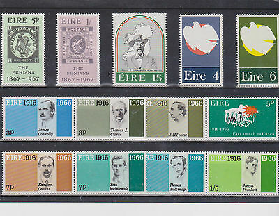 Ireland 13 MNH Stamps. 1916 EASTER RISING 50th ANNIVERSARY 1966.