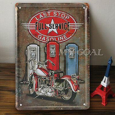 Retro Metal Tin Sign Motorcycle Gasoline Decor Home Bar Pub Garage Wall Poster