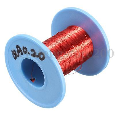 100m 0.2mm Red Magnet Wire Enameled Copper Wire Round Magnetic Coil Roll