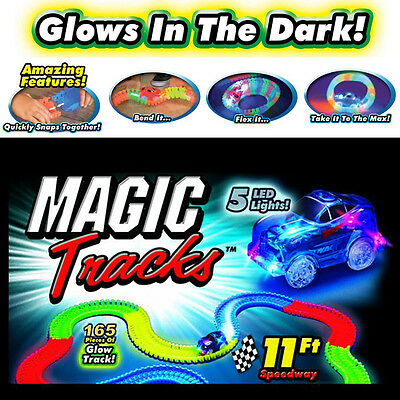 Magic Tracks The Amazing Racetrack that Can Bend, Flex, And Glow! - Xmas Gift
