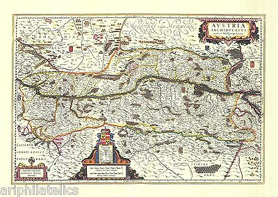 AUSTRIA - Vintage Map Of AUSTRIA Exquisite PRINTED Certified Reproduction !!