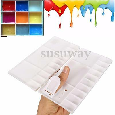Artist Large Painting Mixing Folding Palette Rectangle Acrylic Watercolour Tool