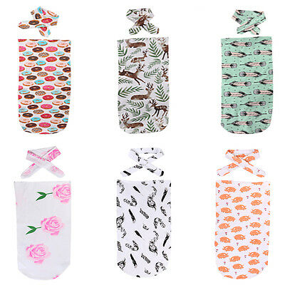 Cute Newborn Baby Infant Cotton Swaddle Blanket Wrap Sleeping Bag Sleepsack 0-12