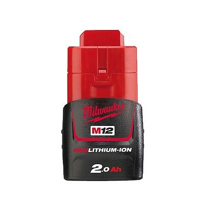 MILWAUKEE M12B2 12V 2.0ah M12 CARBURANT TECHNOLOGY ROUGE BATTERIE LITHIUM-ION