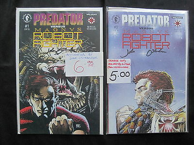 PREDATOR Vs MAGNUS  :COMPLETE 2 ISSUE 1992 SERIES.SIGNED by WRITR JOHN OSTRANDER