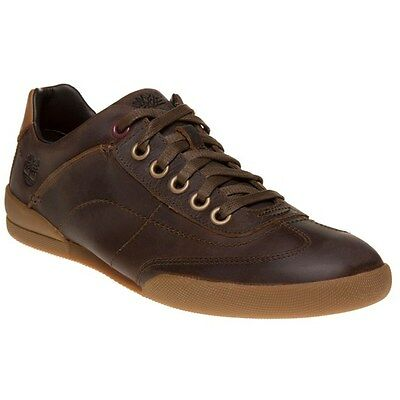 New Mens Timberland Brown Split Cup Sole Leather Shoes Lace Up