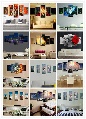 5Pc Modern Abstract Huge Wall Home Decor Art (No Framed) Oil Painting On Canvas