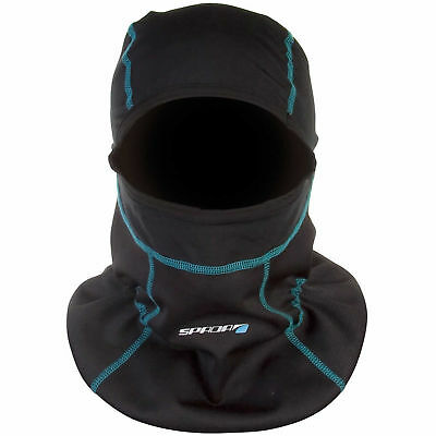 New Spada Motorcycle Bike Chill Factor2 Lightweight Balaclava Black - One Size