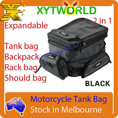 New Motorcycle bike Tank Bag Backpack Luggage waist bag Expandable Magnetic 2in1