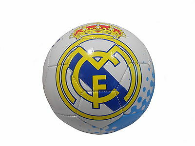 Real Madrid Football Club Blue and White Football Size 5 Soccer Ball