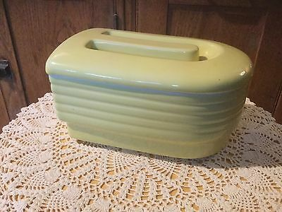 Vintage Hall's China Yellow Refrigerator Dish & Lid..  Made for Westinghouse.