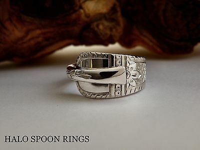 Stunning Victorian Solid Silver Spoon Ring 1895  *** The Perfect Gift ***