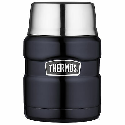 Thermos SK3000MBTRI4 Stainless King™ 16oz Steel Food Jar Folding Spoon Midnight