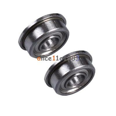 2PCS MF104ZZ 4x10x4 mm Metal Shielded Flanged PRECISION Ball Bearing
