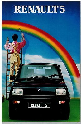 RENAULT 5 CATALOGUE 32 pages 198? FORMAT 15 x 21 ANGLETERRE