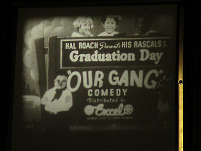 16mm Old Silent comedy Our Gang / Graduation Day   50ft comedy