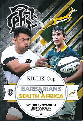 RUGBY UNION: Barbarians v South Africa 2016 Killik Cup @ WEMBLEY STADIUM