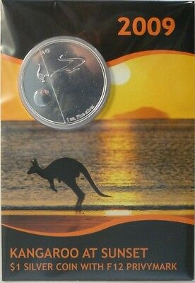 Australien 2009 Känguru Kangaroo at Sunset Fabulous F12 1oz Silber (Blister)