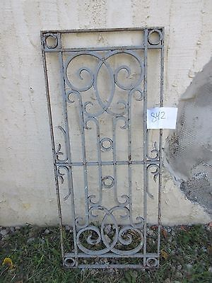 Antique Victorian Iron Gate Window Garden Fence Architectural Salvage #842