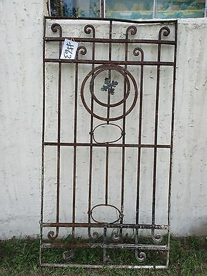Antique Victorian Iron Gate Window Garden Fence Architectural Salvage Door #63