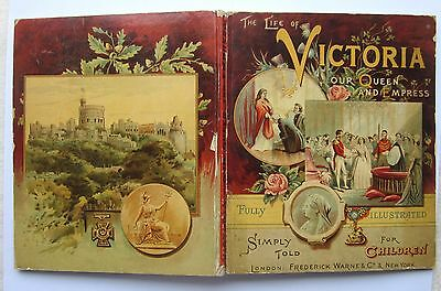 1897 QUEEN VICTORIA DIAMOND JUBILEE 'LIFE OF VICTORIA OUR QUEEN' by L VALENTINE