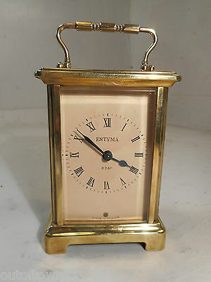 8 Day Brass Carriage Clock,  ref1424/ak/kyX6, 2/16s1527