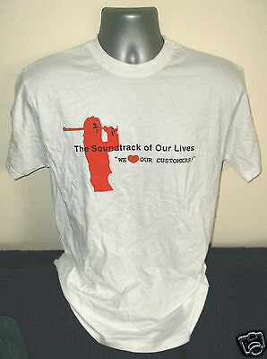 SOUNDTRACK OF OUR LIVES We Love Our Customers mens white T-shirt NEW/UNWORN [M]