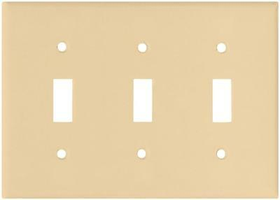 Cooper Case (15) 2141-V Ivory 3 Gang Switch Wall Plate Covers & Screws 6248975
