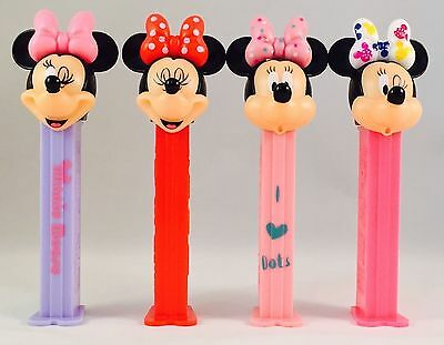 Disney MINNIE MOUSE PEZ HEADS - Includes Sweets (Candy Dispenser/Gift/Kids)