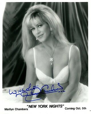 Sexy MARILYN CHAMBERS Signed Photo
